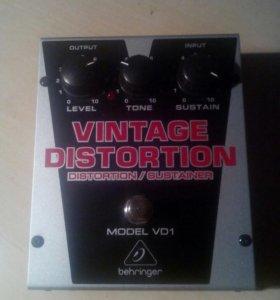 Гитарная педаль behringer vintage distortion