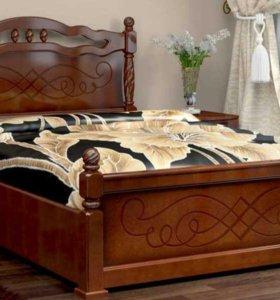 Шикарная кровать из массива с подьемным механизмом