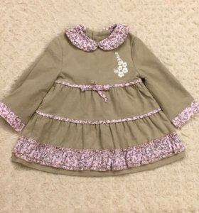 Платье на девочку 80-86 см