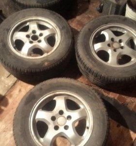 Комплект летних шин r15 205 на 65 или колес