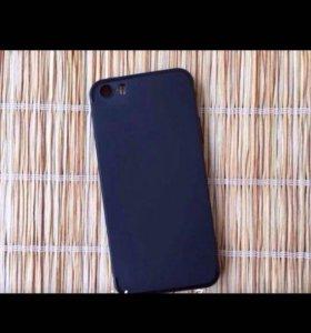 """Чехол """" Черный-матовый """" для iPhone 5/5s/SE"""
