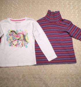Водолазка + футболка с длинным рукавом 104-110 см
