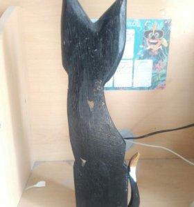 Декоративная (деревянная) кошка
