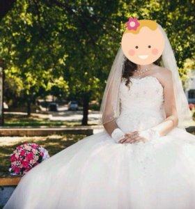 Свадебное платье(красивое)