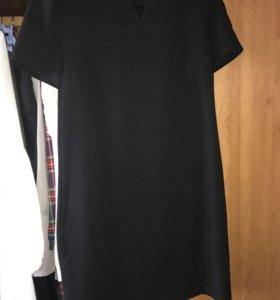 классическое платье с коротким рукавом (ostin)
