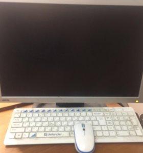 Компьютер с монитором для учебы, работы и игр