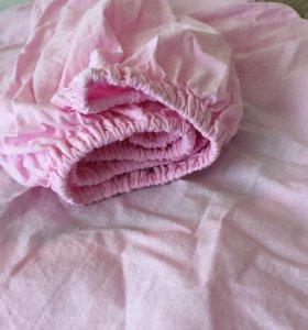 Простынь для детской круглой кроватки
