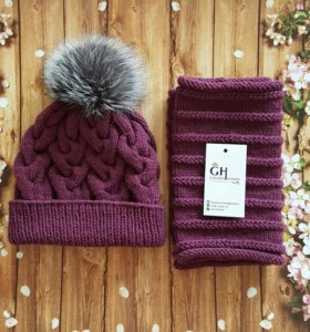 Комплект: шапочка + снуд!