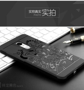 Чехол для Xiaomi Redmi Note 4, цвет серый, чёрный