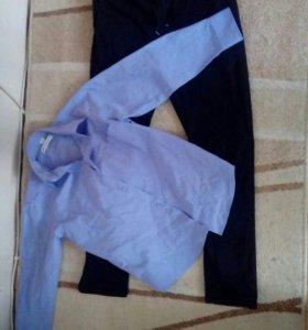 Джинсы+рубашка 9-10лет