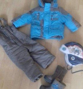 Детский зимний костюм+валенки+шапка