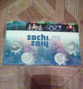 Сочи 2014 монеты и купюра