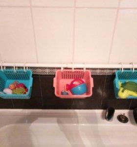 Система для хранения игрушек в ванной
