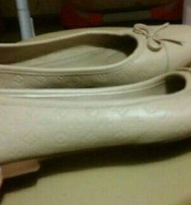 балетки кожа