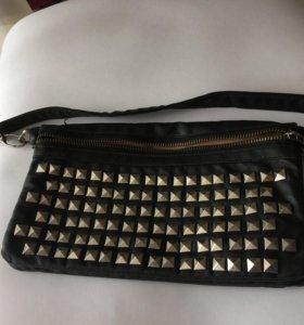 Клатч сумочка в стиле Глэм Рок. Как новая