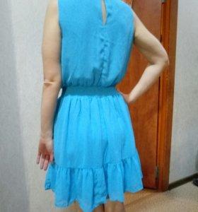 Платье новое голубое, розовое