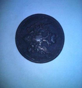 Монета 5 копеек Александр 3