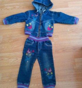 Джинсовый костюм для девочки