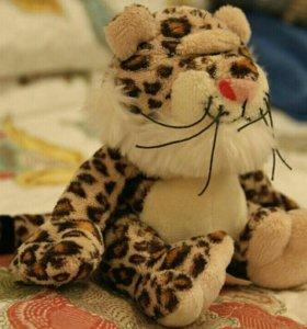 Плюшевый леопардик (новый)