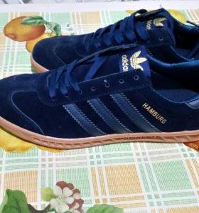 Adidas Hamburg Tech Trainers Dark Blue