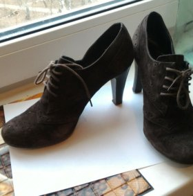 Туфли натур замша , 2 пары