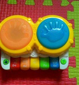 Музыкальная игрушка пианино+барабан