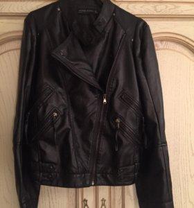 Куртка кожзам косуха женская