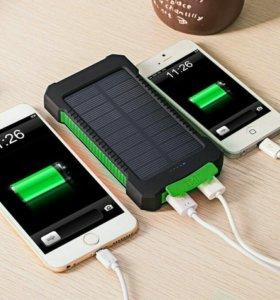 Аккумулятор 20 000 mAh + солнечная батарея