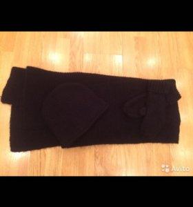 Шапка шарф варежки Zara