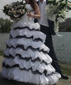 Свадебное платье 44- 46.