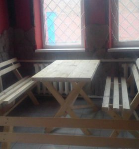 Стол 2 лавки