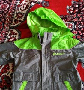 Куртка ветровочная на флисе