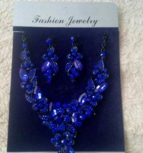 Ожерелье с сережками,новое