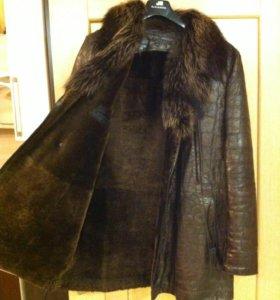 Зимняя Куртка кожанная (дубленка) мужская