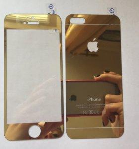Цветные защитный стекла на iPhone 5/5s
