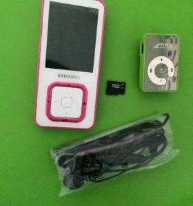 MP4 SAMSUNG4gb,MP3,MicroCD 1GB+новые наушники SONY