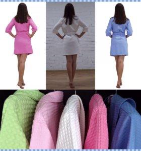 Комплект халат и полотенце-тюрбан для волос