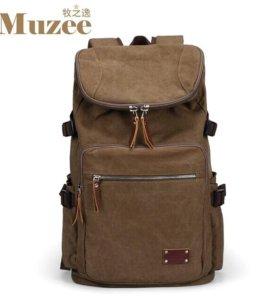 Модный холщовый рюкзак Muzee