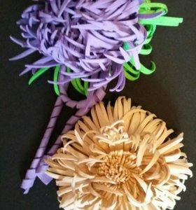 Цветок астры,резинка для волос.