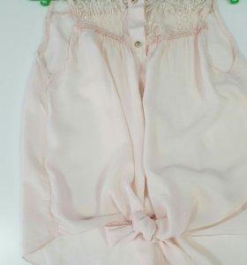 Блузка перламутро-розового  цвета