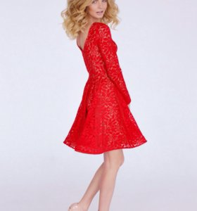 Кружевное модное платье