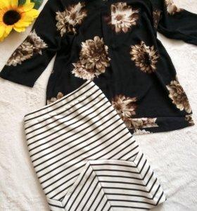 Блуза М, юбка до Л