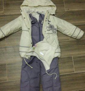 Демисезонная куртка и комбинезон на девочку