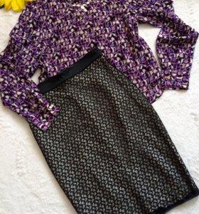 Блуза С, юбка С-М