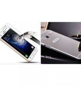 Защитное стекло+бампер на Samsung a 3