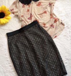 Блуза М, юбка С-М