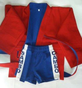 Экипировка для самбо (куртка шорты борцовки)