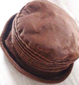 Шапка шляпка женская бархат в о/с