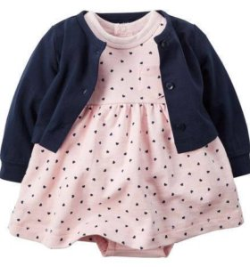 Carter's(платье-боди & кардиган)