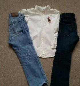 Румашка ральф ларен+2 шт джинсы геп
